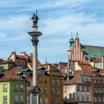 Warszawa - widok na kolumnę Zygmunta i starówkę